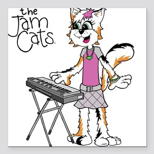 The Jam Cats Square Car Magnet