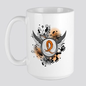 Wings and Ribbon Multiple Sclerosis Large Mug