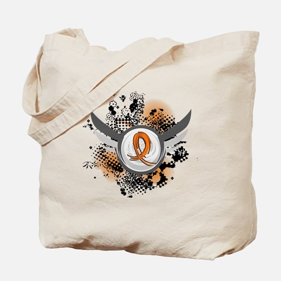 Wings and Ribbon Multiple Sclerosis Tote Bag