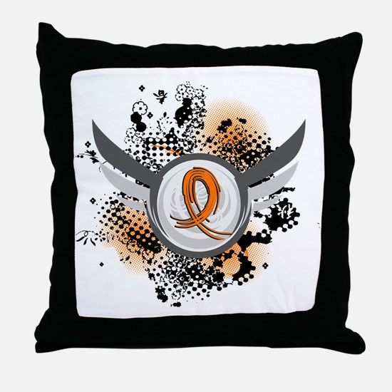 Wings and Ribbon RSD Throw Pillow