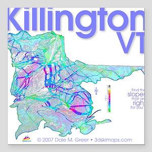 Killington Resort Square Car Magnet