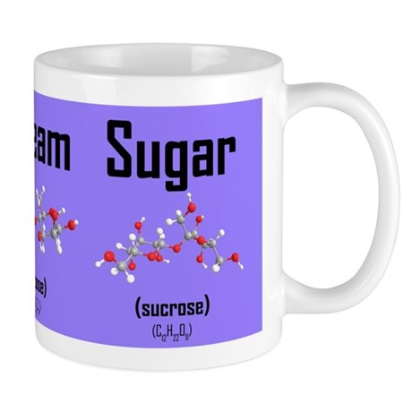 Coffee, Cream and Sugar Molecule Mug (purple) Mug