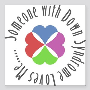 Down Syndrome Square Car Magnet