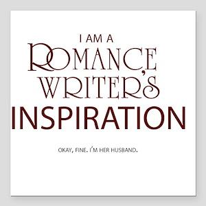 Romance Writer's Husband Square Car Magnet