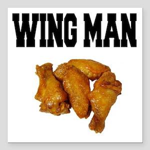 Wing Man Square Car Magnet