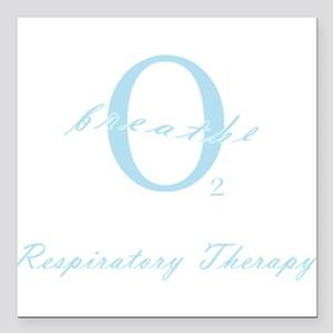 Respiratory Therapy - Athleti Square Car Magnet