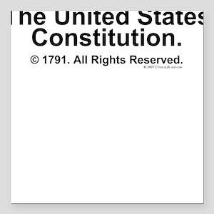 US Constitution Square Car Magnet