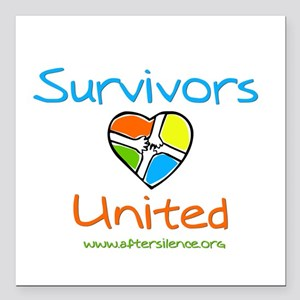 Survivors United Square Car Magnet