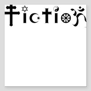 Fiction Square Car Magnet