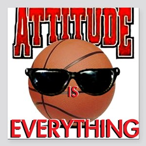 Attitude is Everything Square Car Magnet