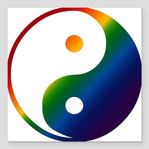 Gay Yin and Yang Square Car Magnet