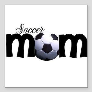 soccer mom Square Car Magnet