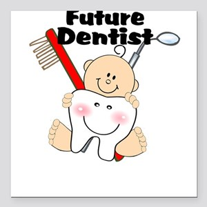 Future Dentist Square Car Magnet