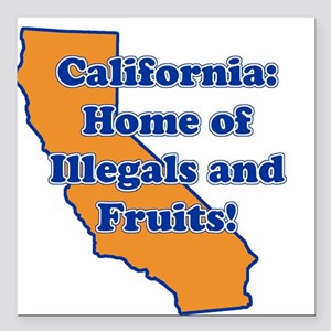 Home of illegals and fruit Square Car Magnet