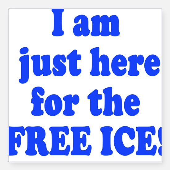Free Ice Square Car Magnet
