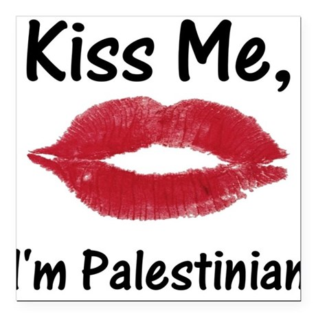 Kiss me, I'm Palestinian Creeper Square Car Magnet