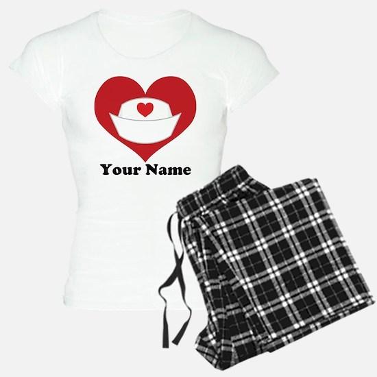 Personalized Nurse Heart Pajamas