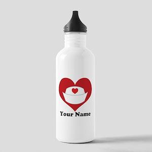 Personalized Nurse Heart Stainless Water Bottle 1.