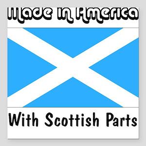Scottish Parts Square Car Magnet