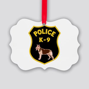 K9 Police Officers Picture Ornament