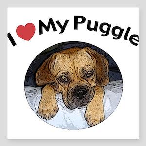 Puggle Square Car Magnet