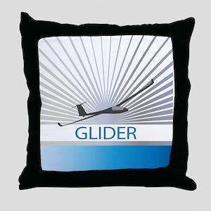 Aircraft Glider Throw Pillow
