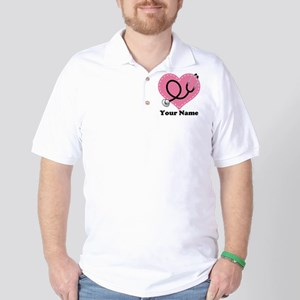 Personalized Nurse Heart Golf Shirt