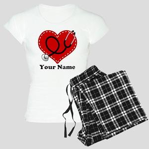 Personalized Nurse Heart Women's Light Pajamas