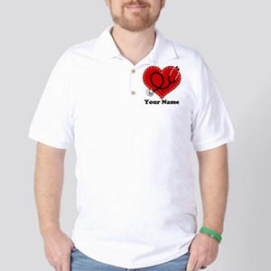 Personalized Nurse Heart Golf Shirt