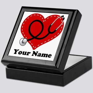 Personalized Nurse Heart Keepsake Box