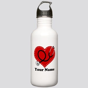 Personalized Nurse Heart Stainless Water Bottle 1.