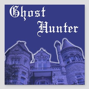 Haunted Mansion Ghost Hunter Square Car Magnet
