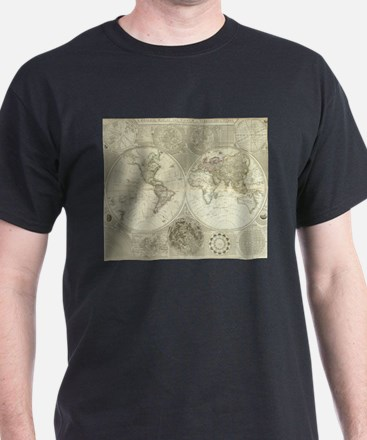 Vintage Map of The World (1787) T-Shirt