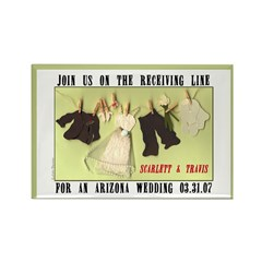 Receiving Line Save Date Rectangle Magnet (10 pack