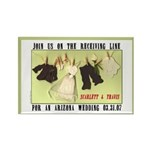 Receiving Line Save Date Rectangle Magnet