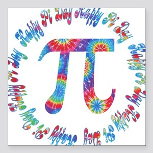Tie Dye Pi Day Tees and Gifts Square Car Magnet