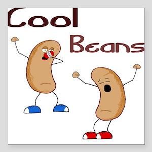 Cool Beans Square Car Magnet