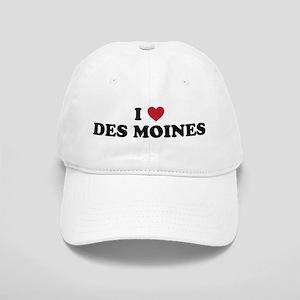I Love Des Moines Iowa Cap
