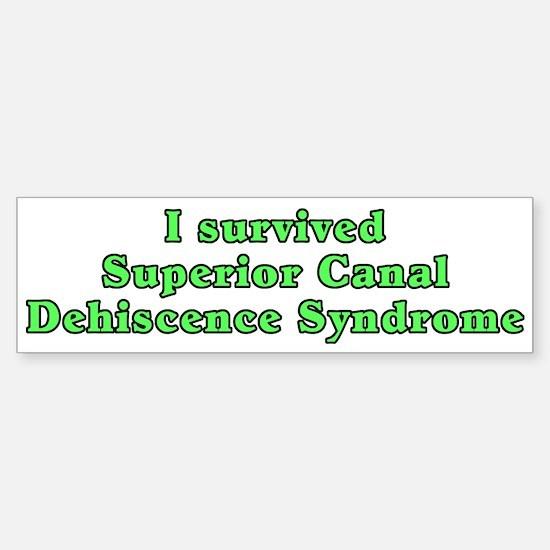 I survived SCDS - Sticker (Bumper)