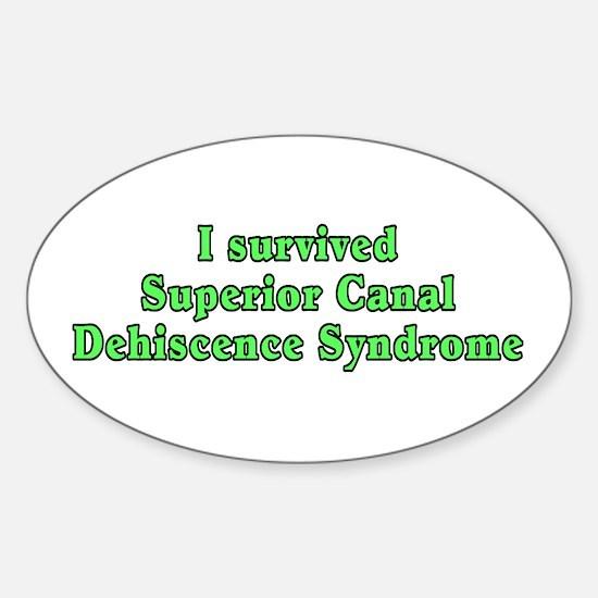 I survived SCDS - Sticker (Oval)