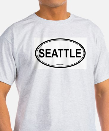 Seattle (Washington) Ash Grey T-Shirt
