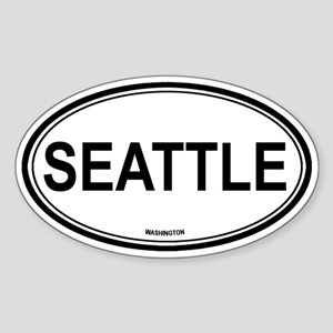Seattle (Washington) Oval Sticker