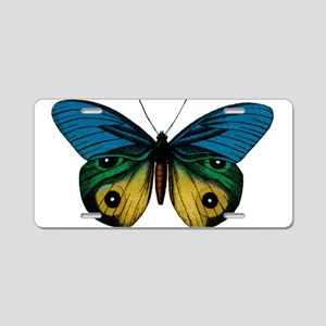 Butterfly Eyes Aluminum License Plate