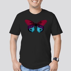 Butterfly Eyes Men's Fitted T-Shirt (dark)