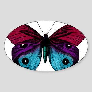 Butterfly Eyes Sticker (Oval)