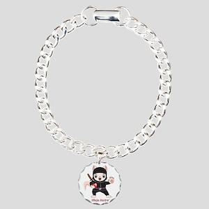 Ninja MEOW™ Charm Bracelet, One Charm