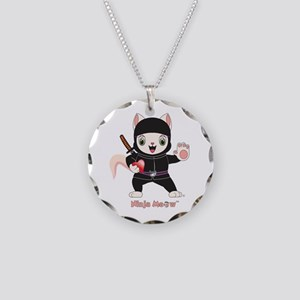 Ninja MEOW™ Necklace Circle Charm