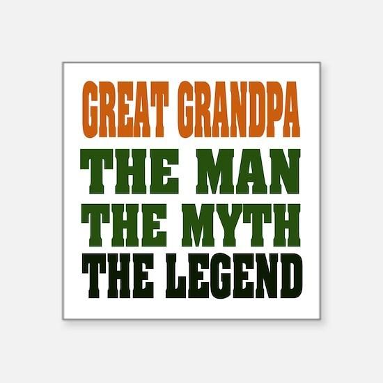 """Great Grandpa the Legend Square Sticker 3"""" x"""