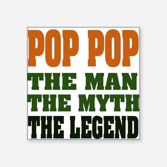 "pop pop dark.png Square Sticker 3"" x 3"""