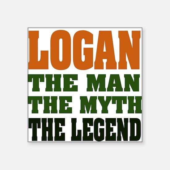 "LOGAN.png Square Sticker 3"" x 3"""